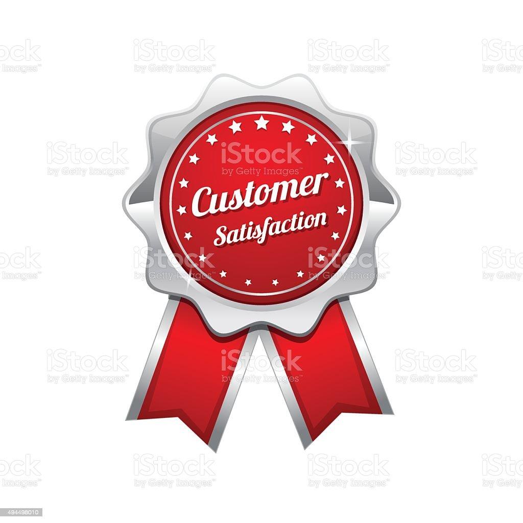Customer Satisfaction Red Vector Icon Design vector art illustration