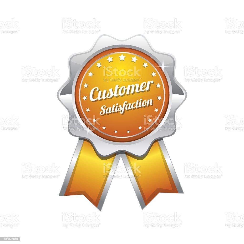 Customer Satisfaction Yellow Vector Icon Design vector art illustration