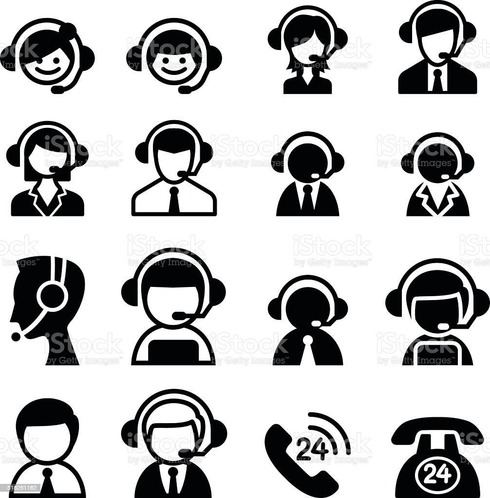 Customer service icon vector art illustration