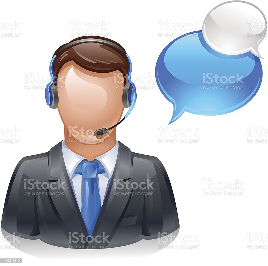 customer service operator royalty-free stock vector art