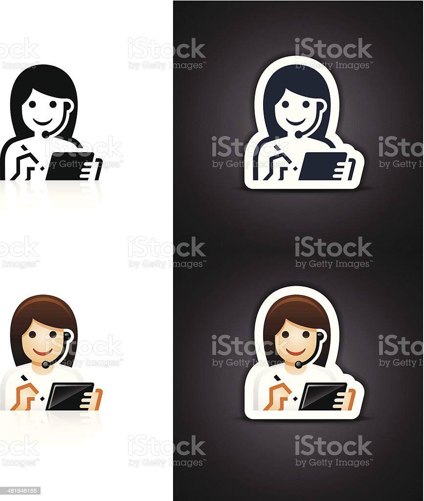 Customer Service Representative Icon royalty-free stock vector art
