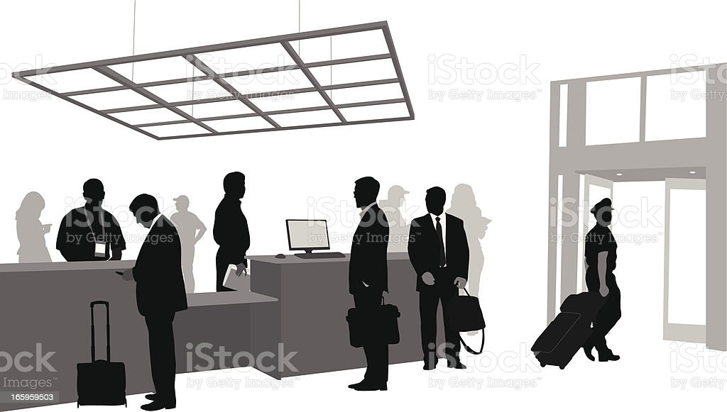 Customer Service Vector Silhouette royalty-free stock vector art