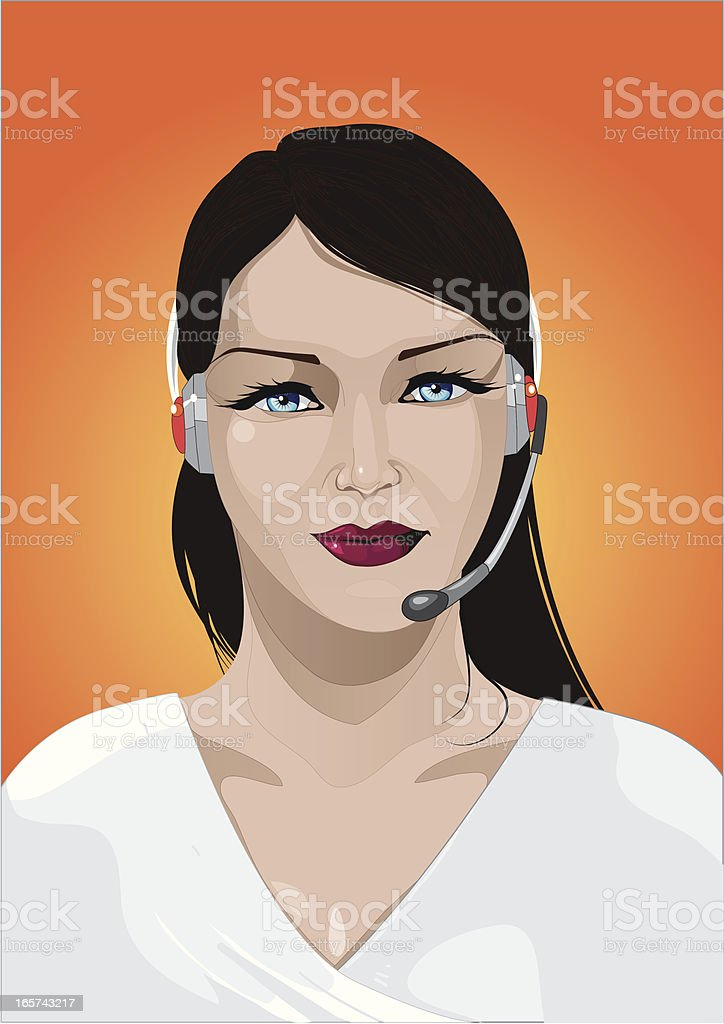 customer service with headset royalty-free stock vector art