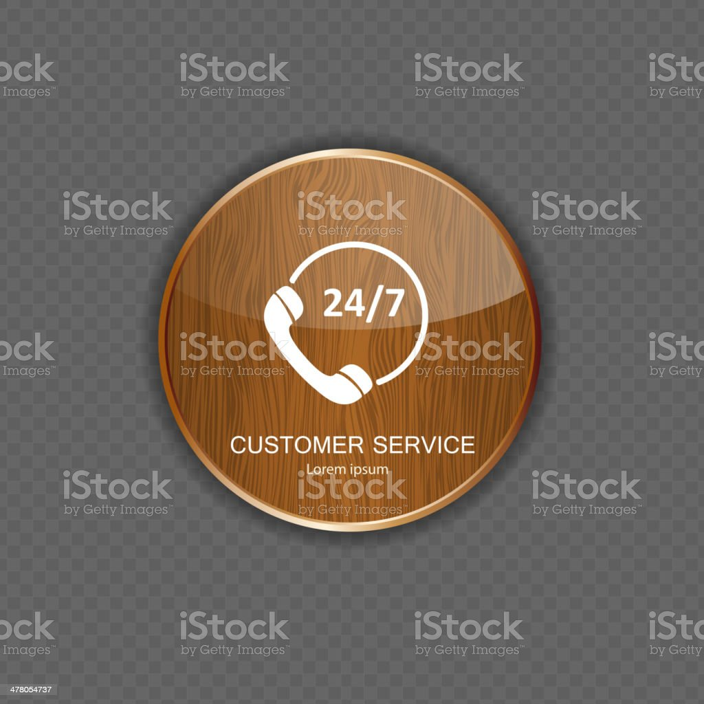 Customer service wood application icons royalty-free stock vector art