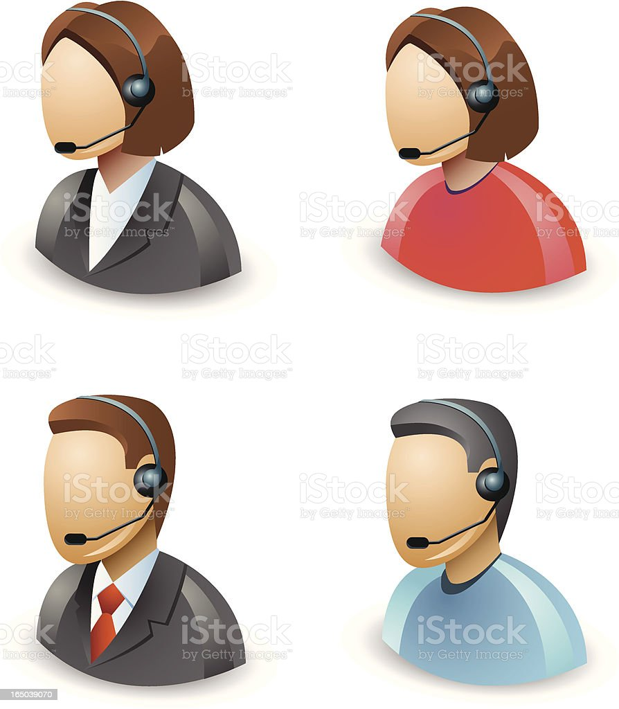 Customer support icons royalty-free stock vector art
