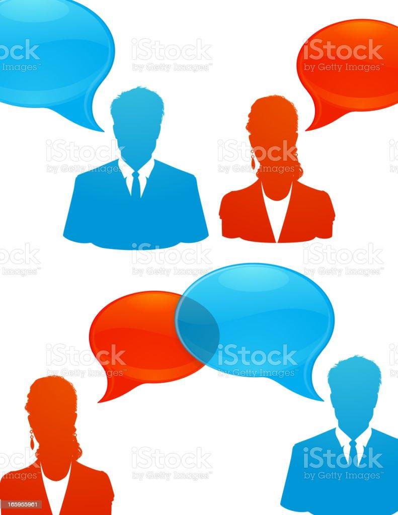 Customer support speech bubble royalty-free stock vector art