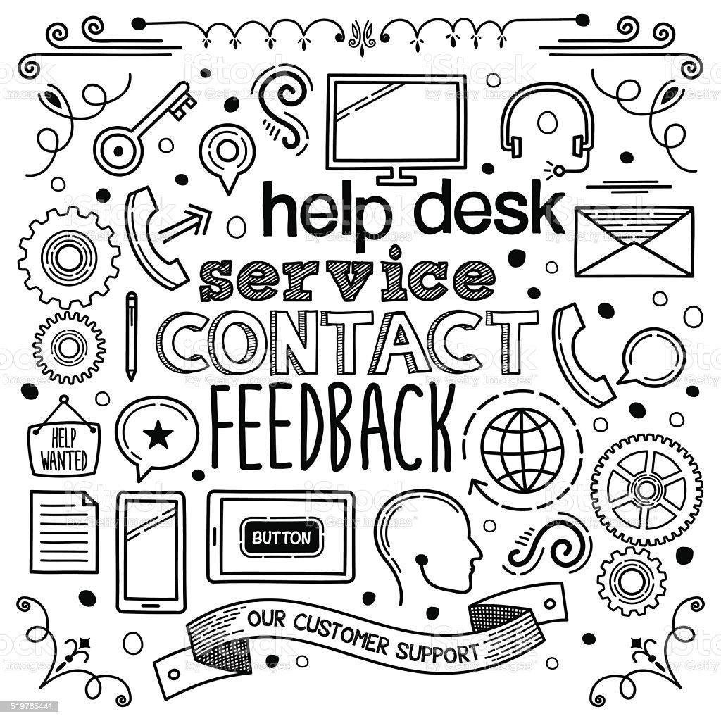 Customer Support vector art illustration