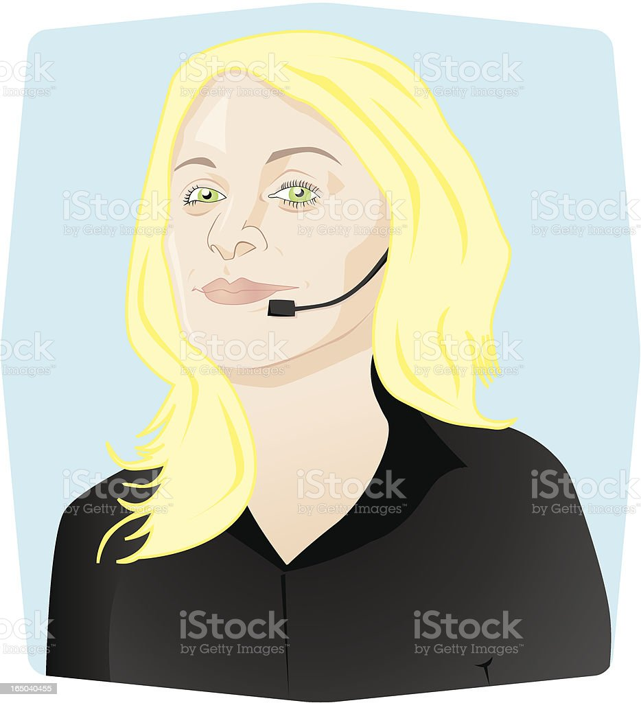 Customer Support - Woman royalty-free stock vector art