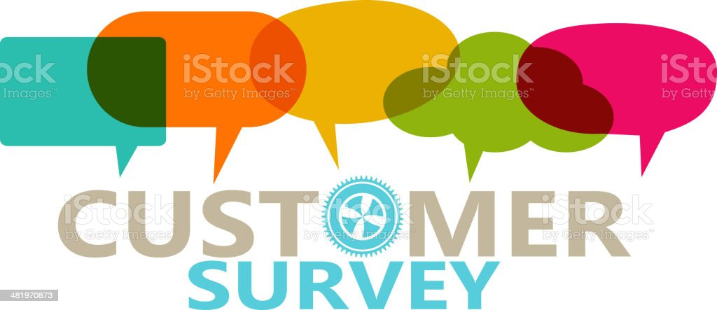 Customer Survey vector art illustration