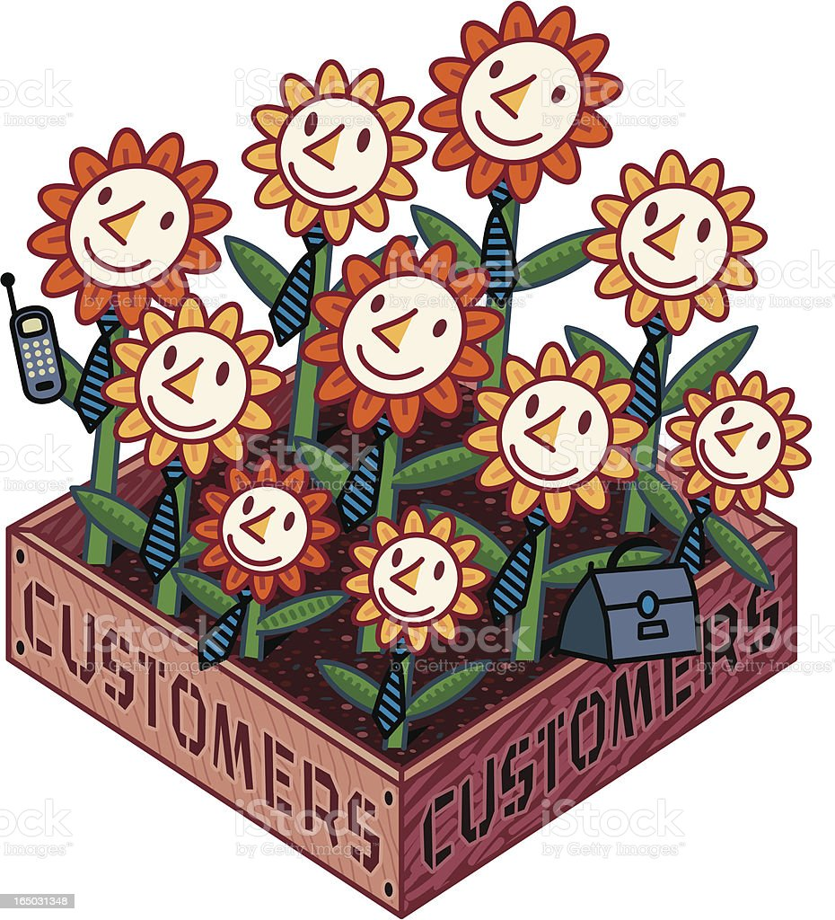 Customers are just like Flowers! royalty-free stock vector art
