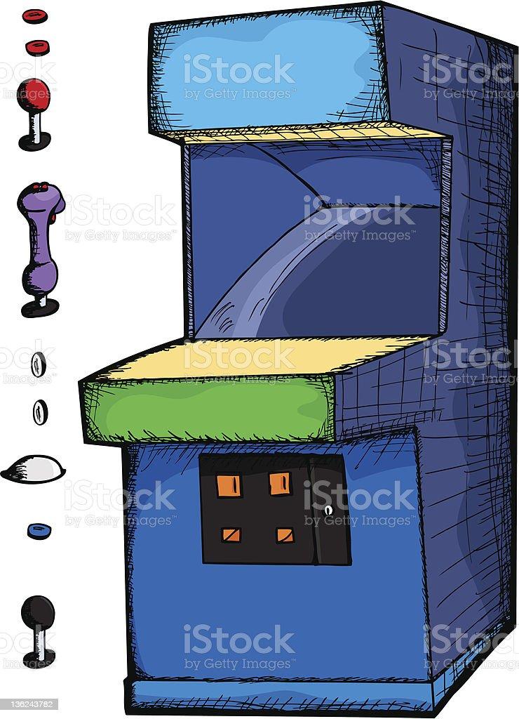 Customizable Arcade Game royalty-free stock vector art