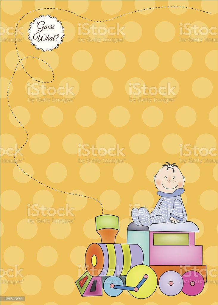 customizable birthday greeting card with train vector art illustration