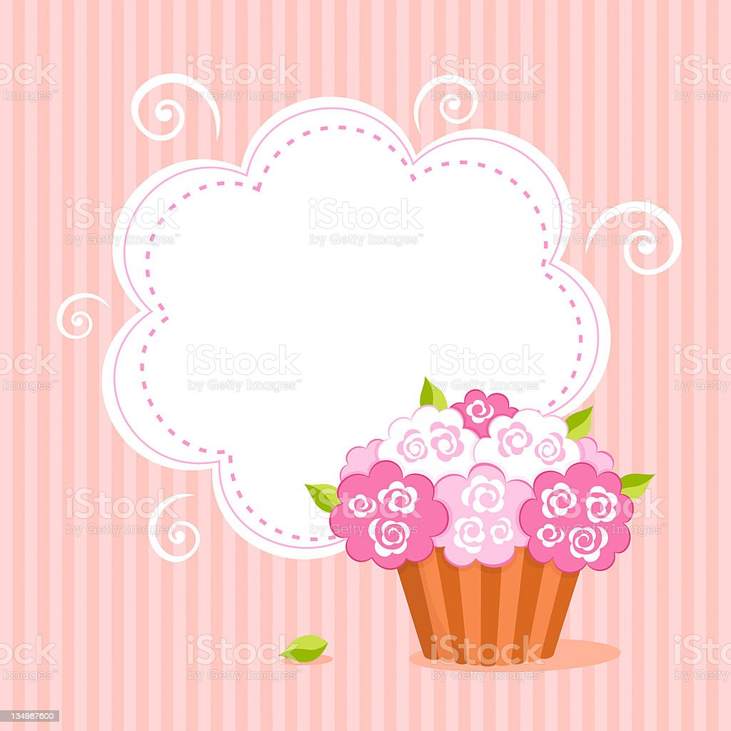 Cut background with cupcake. royalty-free stock vector art