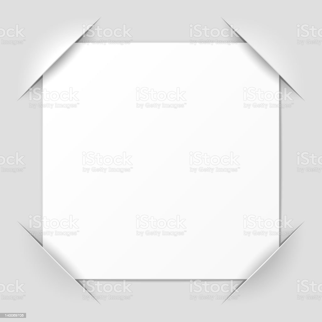 A cut corner design photo frame royalty-free stock vector art