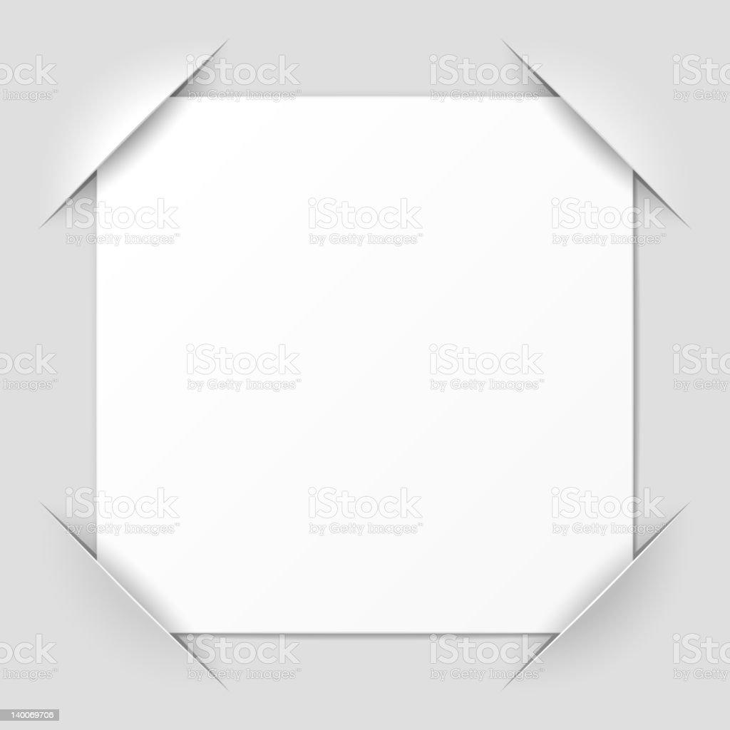 A cut corner design photo frame vector art illustration