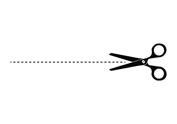 clip art dotted line with scissors - photo #14