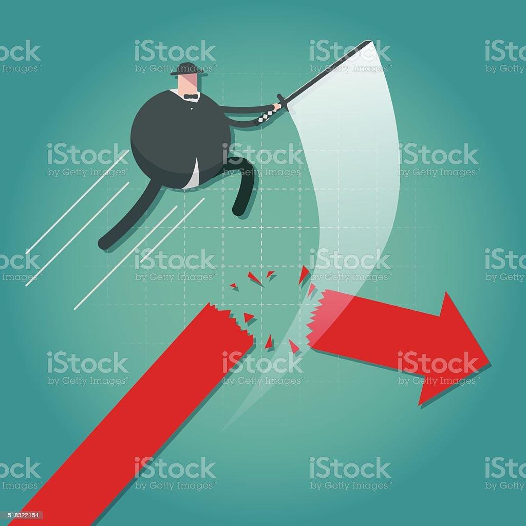 Cut off vector art illustration