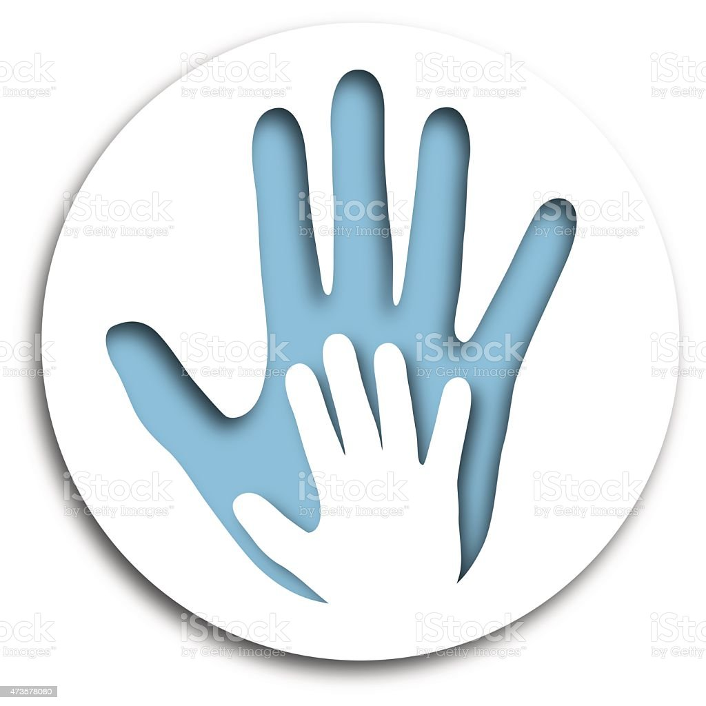 Cut Out Hands Icon vector art illustration
