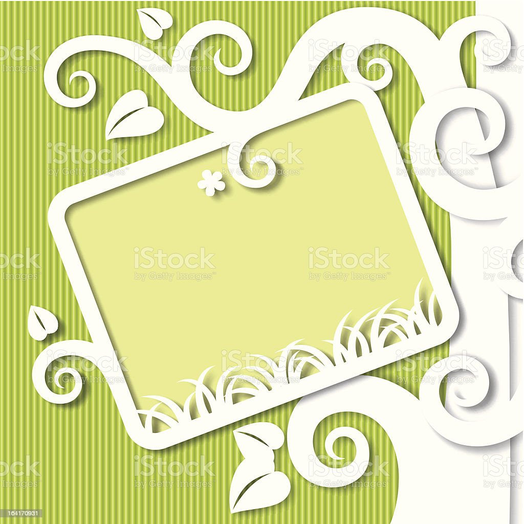 Cut paper background royalty-free stock vector art