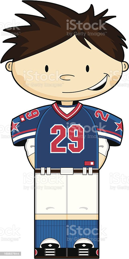 Cute American Football Boy royalty-free stock vector art