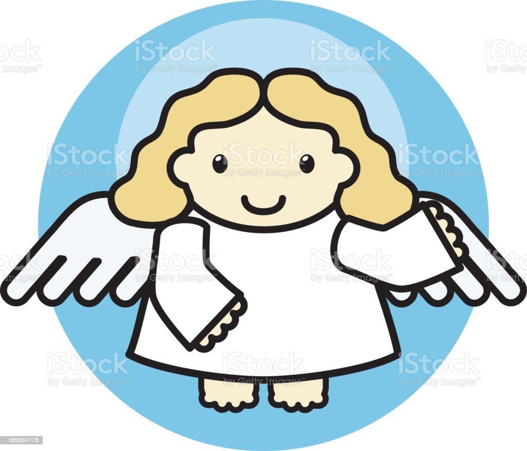 cute angel 2 royalty-free stock vector art