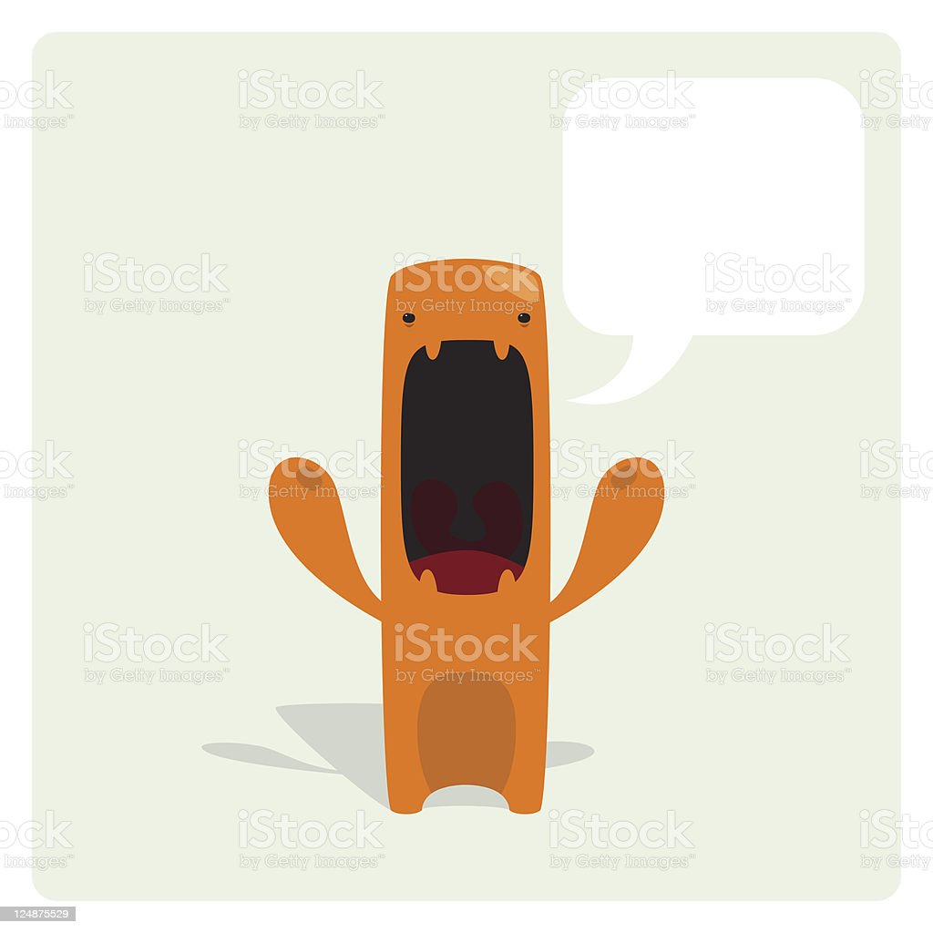 Cute Angry Vector Character Annoyed and Complaining royalty-free stock vector art