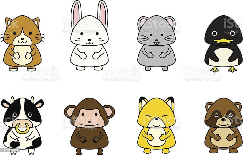 Cute animals 2 royalty-free stock vector art
