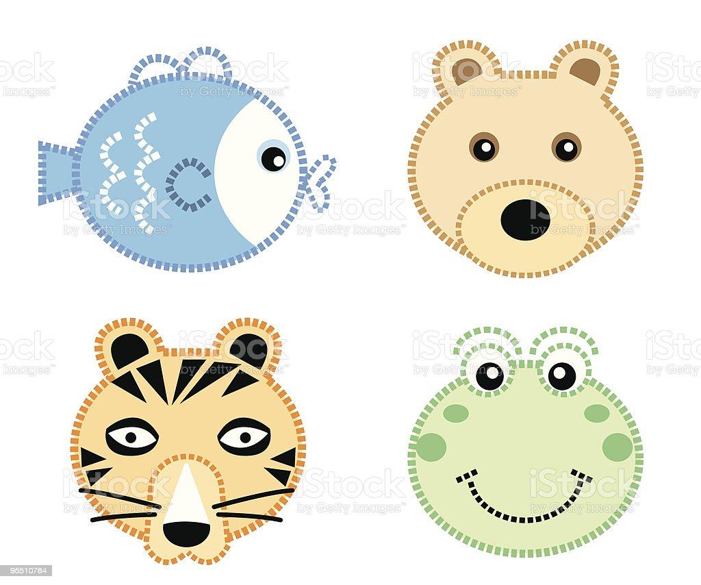 Cute Animals Icon Set 2 royalty-free stock vector art