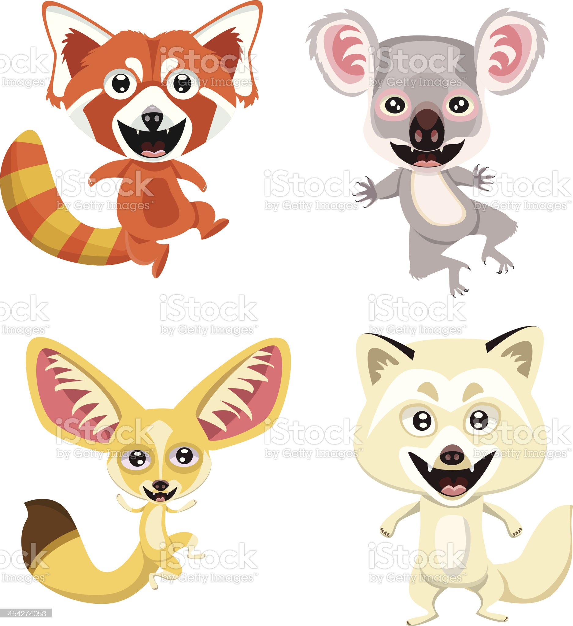 Cute Animals of the World Page royalty-free stock vector art