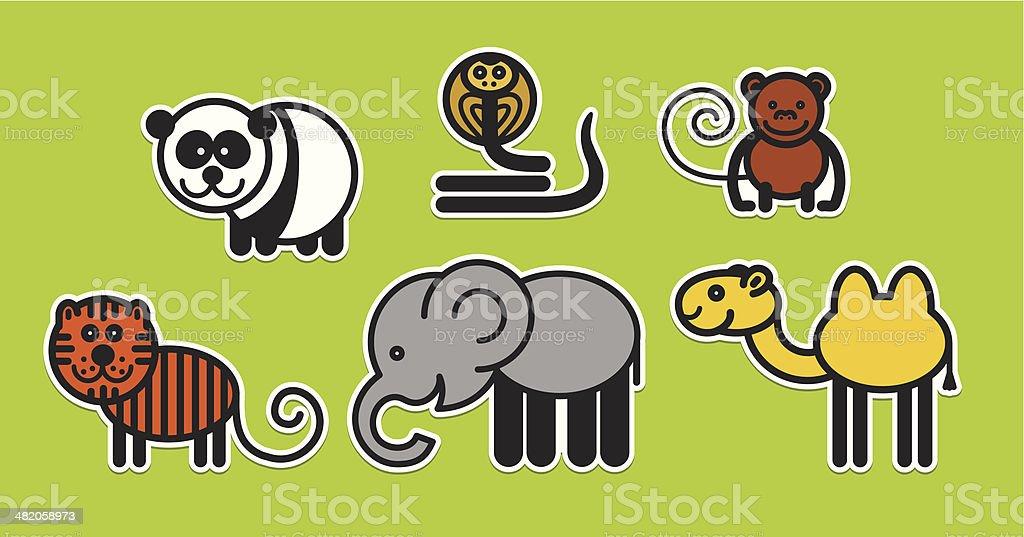 Cute animals set – Illustration royalty-free stock vector art