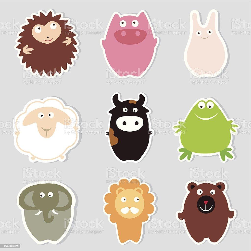 Cute Animals vector art illustration