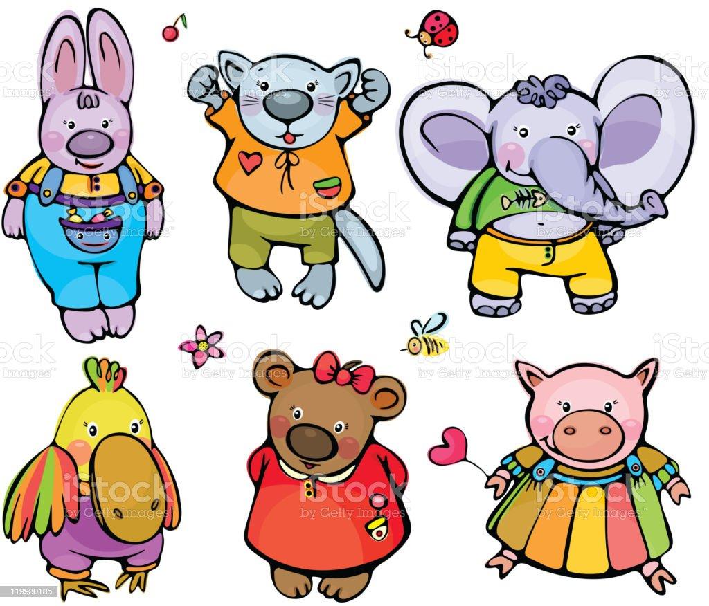 Cute animals. royalty-free stock vector art