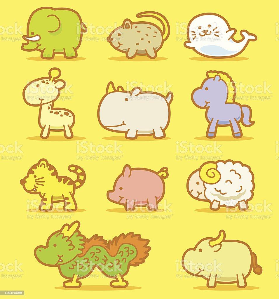 cute animals royalty-free stock vector art