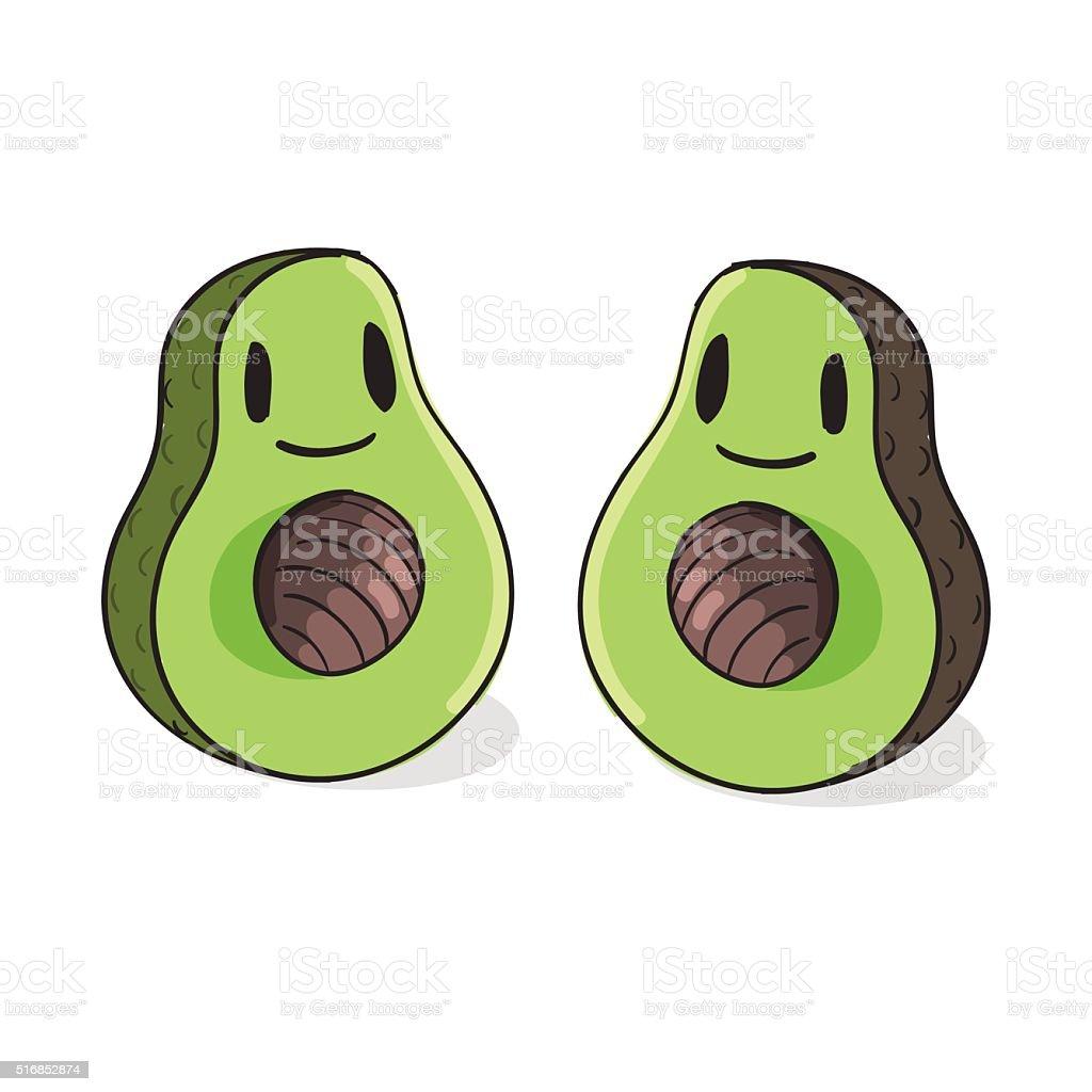 Cute Avocado vector illustration vector art illustration