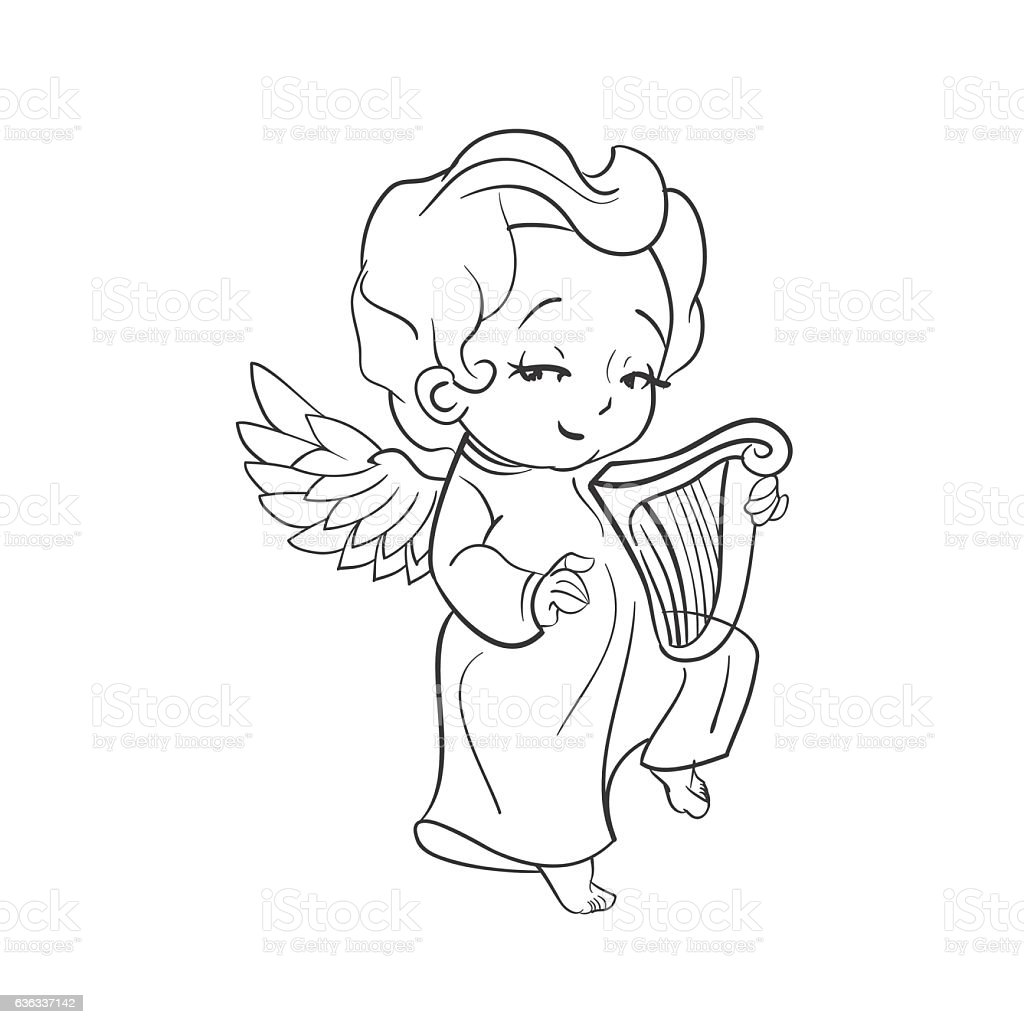 how to draw a cute angel