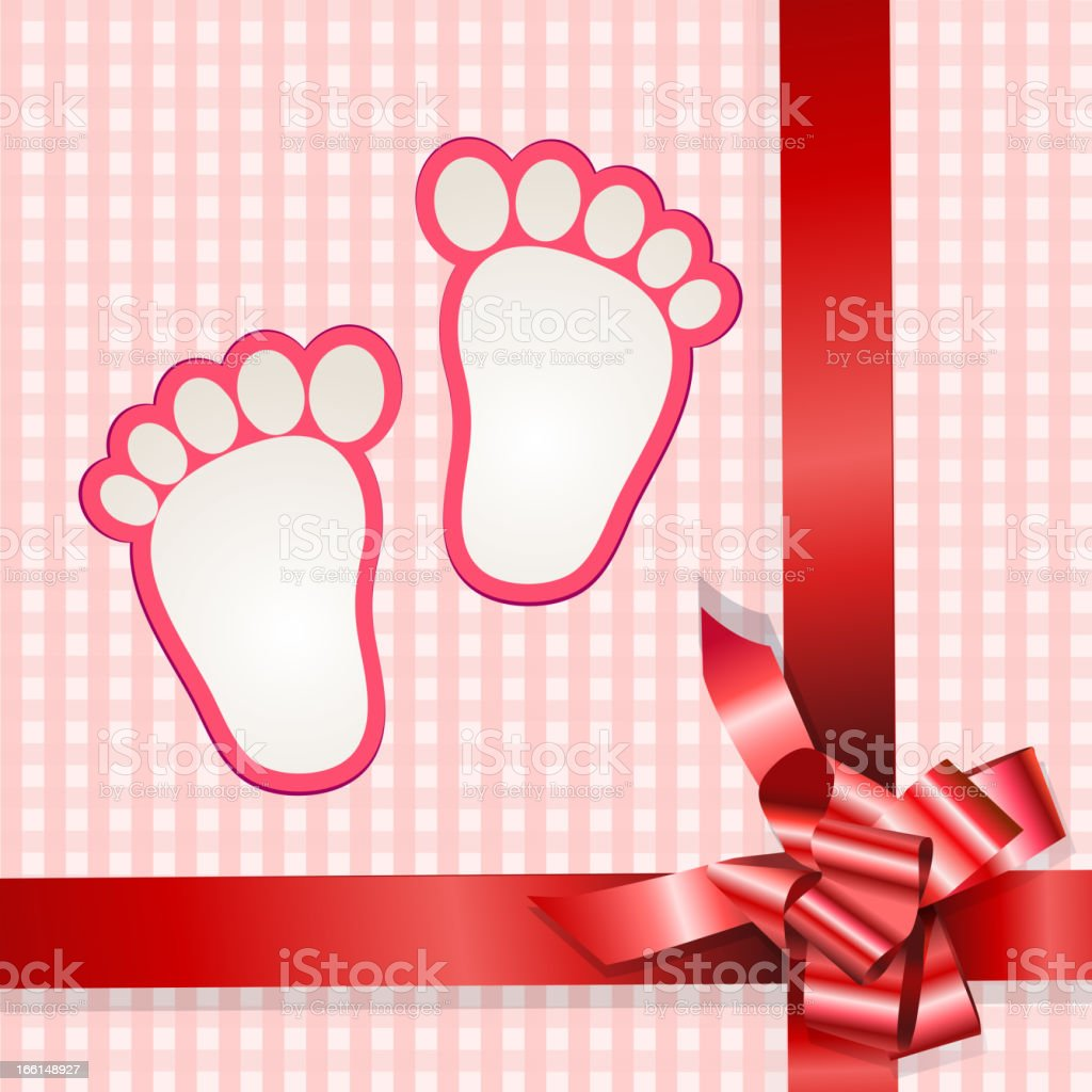 Cute baby arrival royalty-free stock vector art
