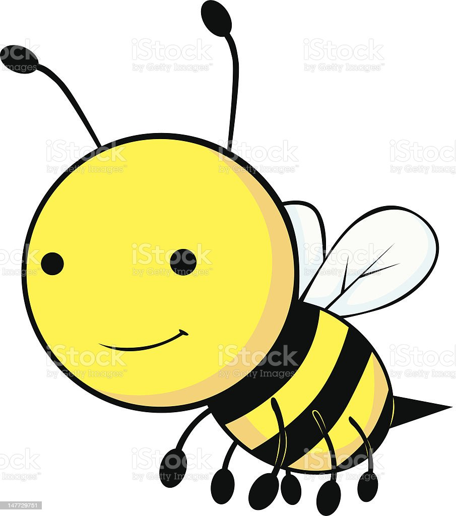 Cute Baby Bee Cartoon vector art illustration