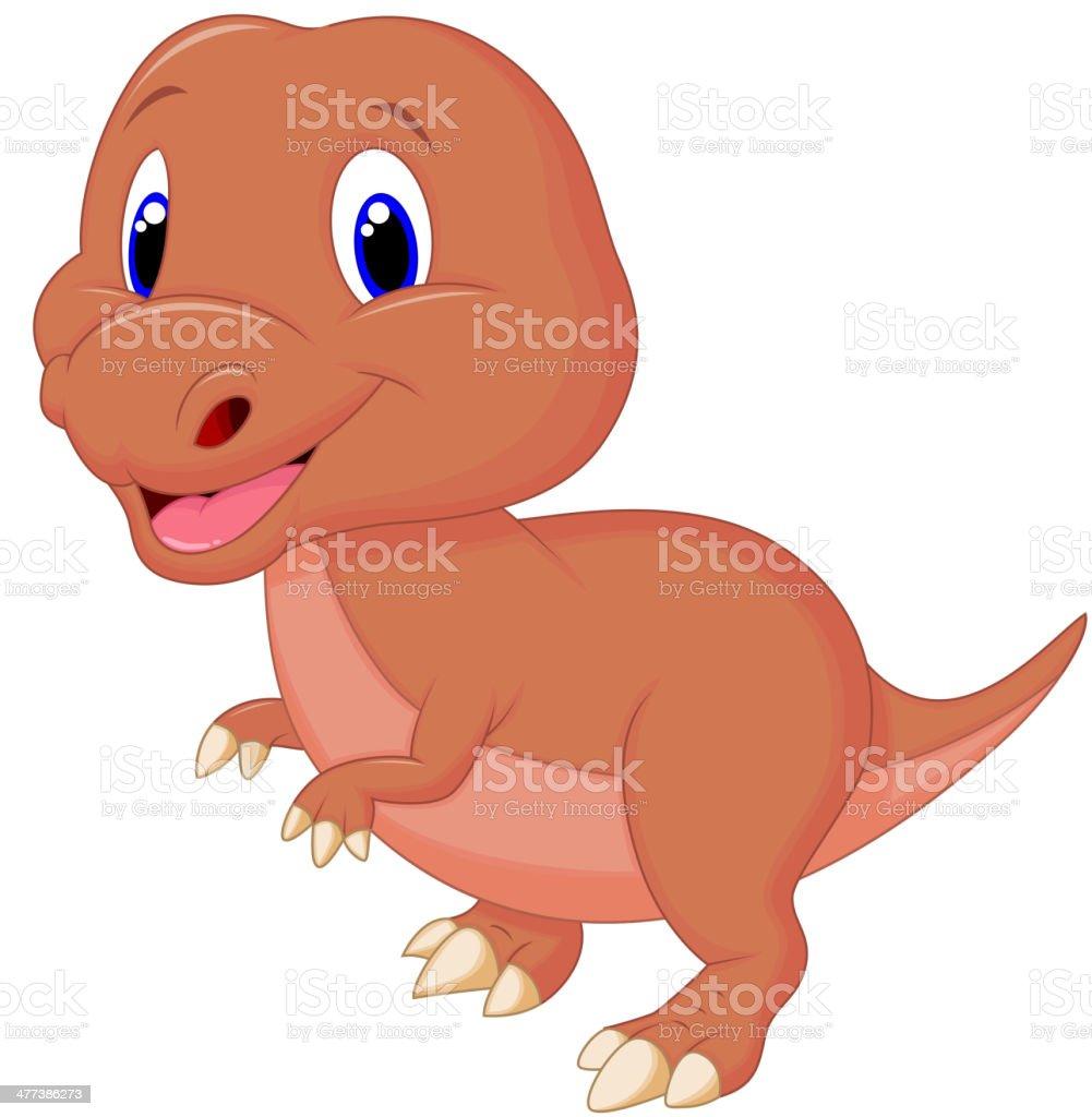 Cute baby dinosaur cartoon royalty-free stock vector art