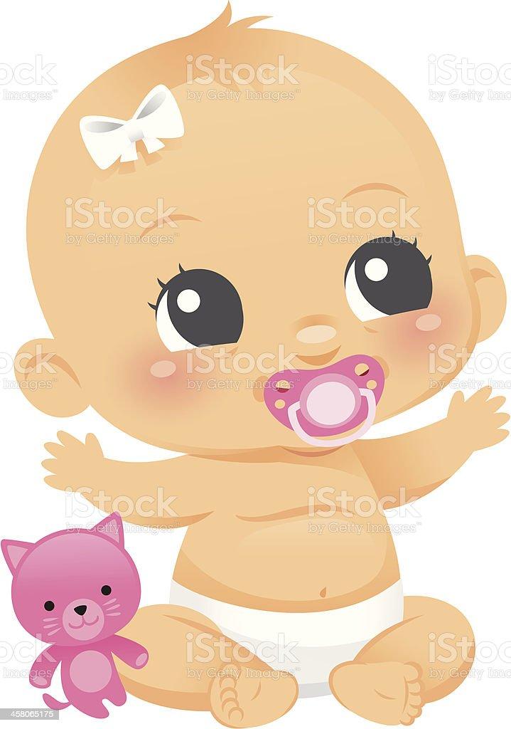Cute Baby Girl royalty-free stock vector art