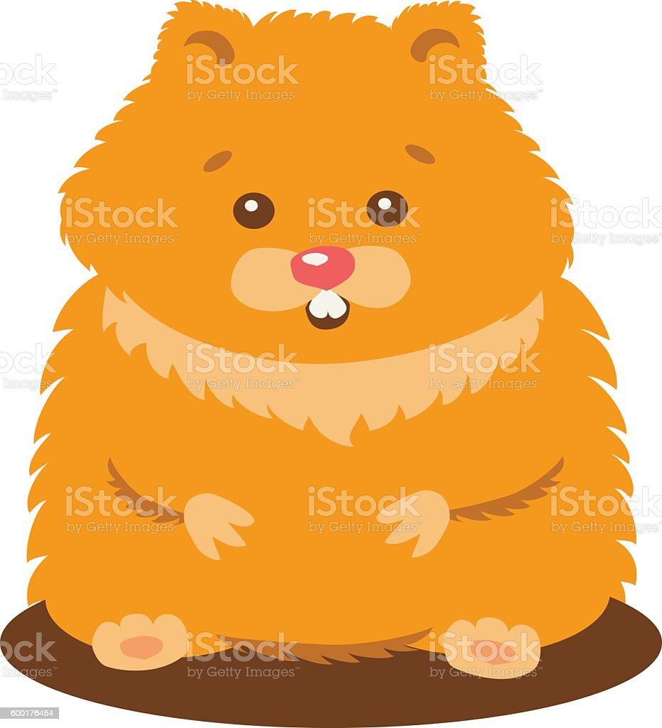 Cute Baby Hamster Isolated vector art illustration