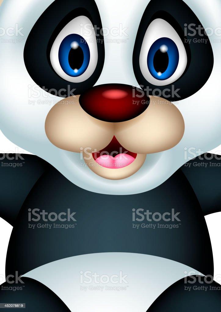 cute Baby panda rising his hand royalty-free stock vector art