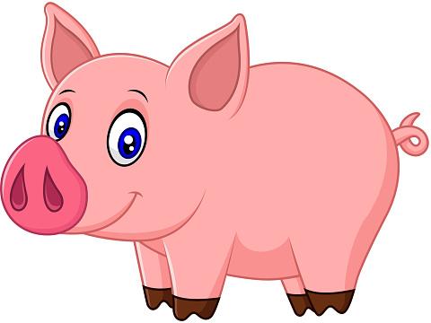 Pigs Faces Clip Art, Vector Images & Illustrations
