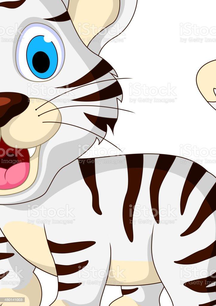 cute baby tiger walking royalty-free stock vector art