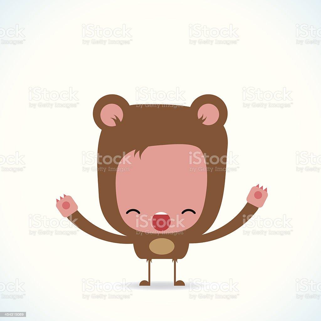 Cute bear character royalty-free stock vector art