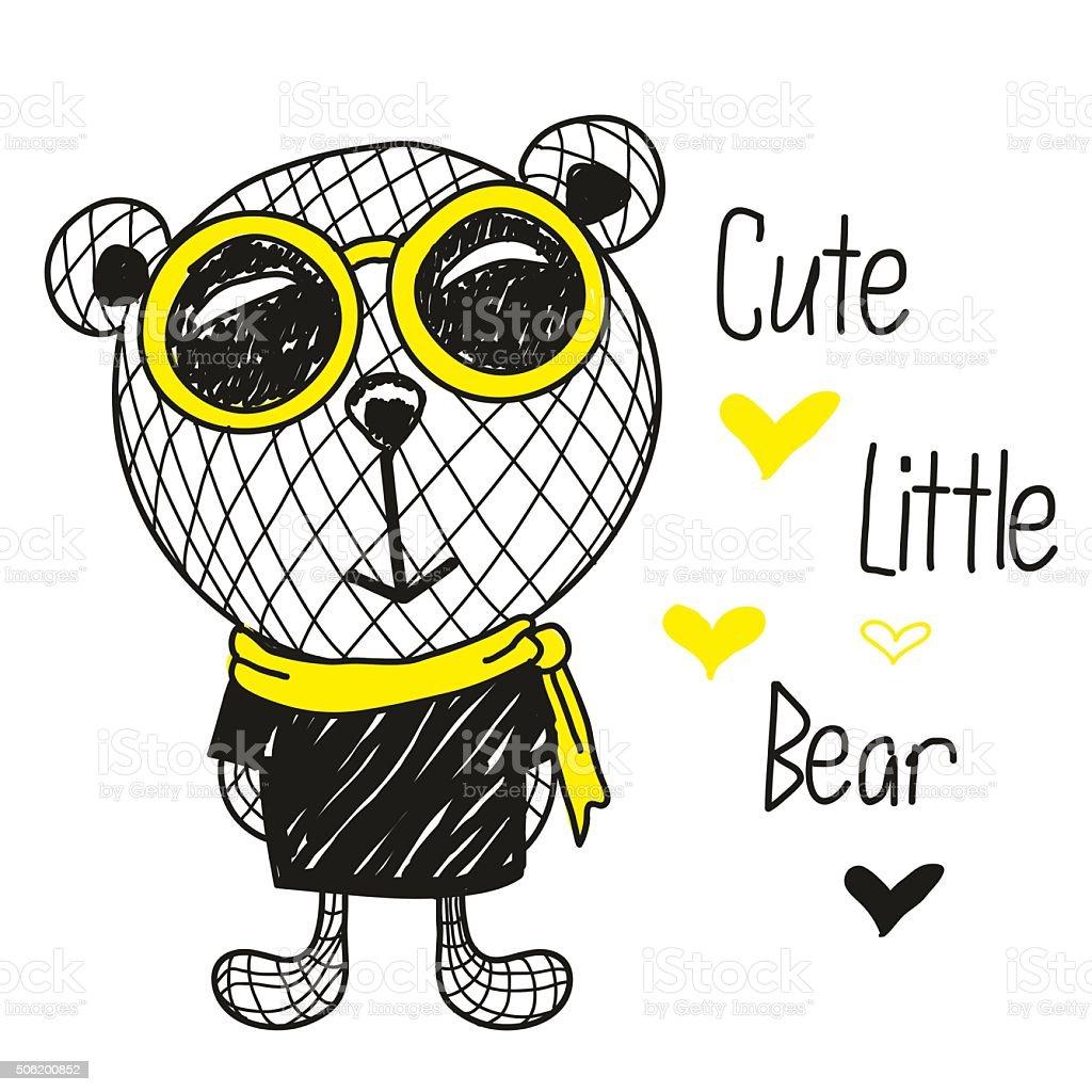 Cute Bears illustration vector art illustration