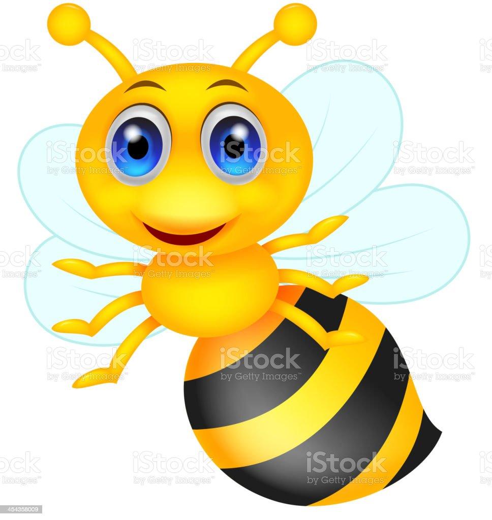 Cute bee cartoon royalty-free stock vector art