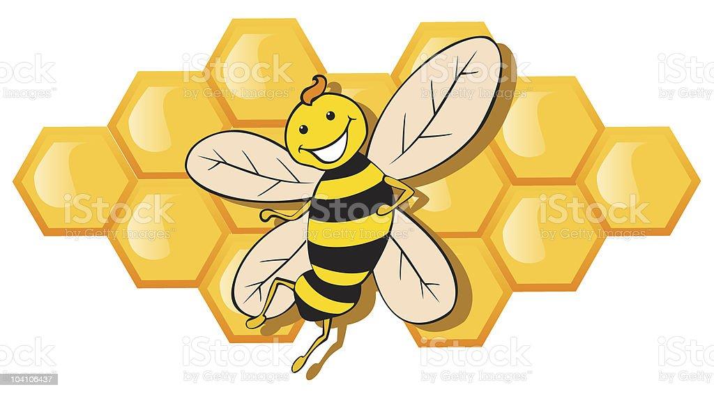 Cute Bee vector art illustration
