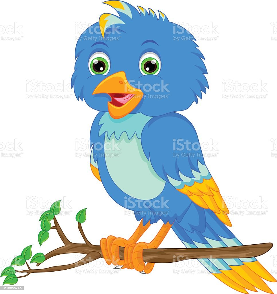 cute bird cartoon vector art illustration