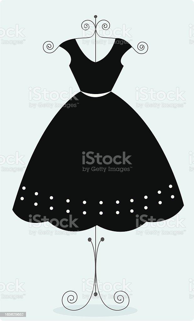 Cute black sundress vector art illustration