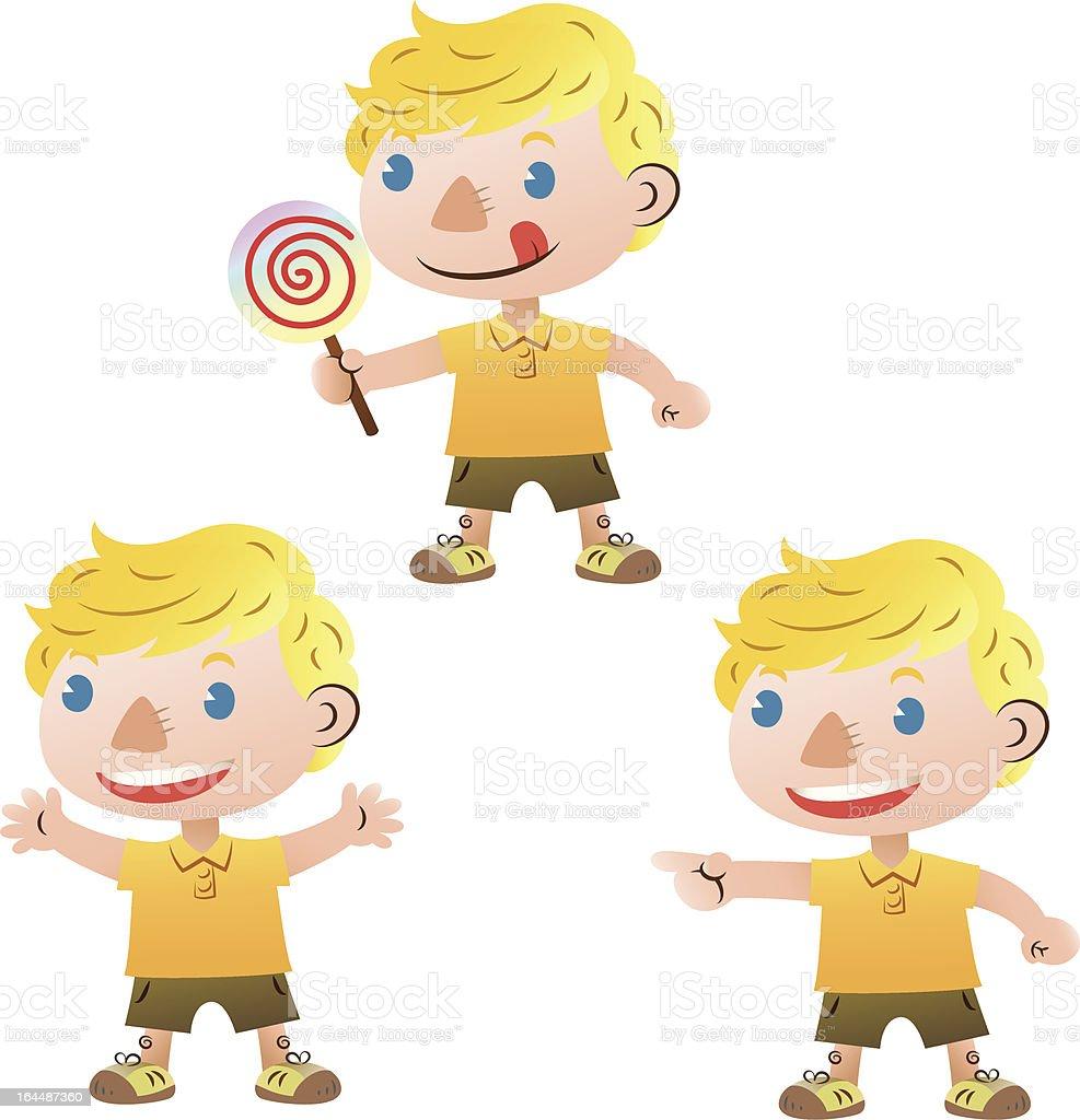 Cute blond boy royalty-free stock vector art